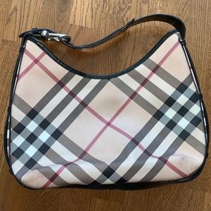 Authentic Burberry Nova Check Hobo Bag